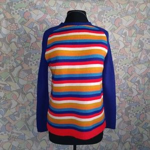 Vintage multi color knit sweater M by Bradley